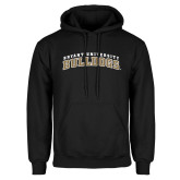 Black Fleece Hoodie-Arched Bryant University Bulldogs