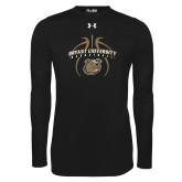 Under Armour Black Long Sleeve Tech Tee-Basketball in Ball