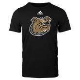 Adidas Black Logo T Shirt-Bulldog Head