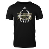 Adidas Black Logo T Shirt-Bulldogs Football Adidas Logo