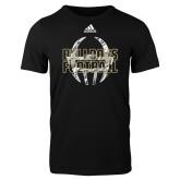 Adidas Black Logo T Shirt-Bulldogs Football Adidas Logo
