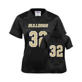 Ladies Black Replica Football Jersey-#32