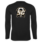 Performance Black Longsleeve Shirt-50th Soccer Logo