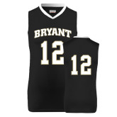 Replica Black Adult Basketball Jersey-#12