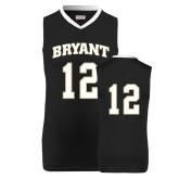 Replica Black Adult Basketball Jersey-#12