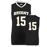 Replica Black Adult Basketball Jersey-#15