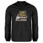 V Neck Black Raglan Windshirt-Bryant Official Logo