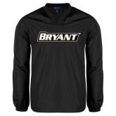 V Neck Black Raglan Windshirt-Bryant