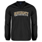 V Neck Black Raglan Windshirt-Arched Bryant University