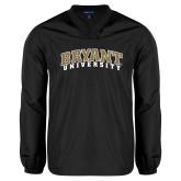 V Neck Black Raglan Windshirt-Arched Bryant University