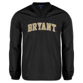 V Neck Black Raglan Windshirt-Arched Bryant