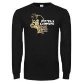 Black Long Sleeve TShirt-2014 Softball Champions