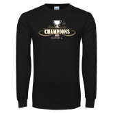 Black Long Sleeve TShirt-2014 NEC Spring Sports Champions
