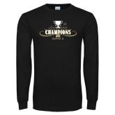 Black Long Sleeve TShirt-2014 NEC Spring Sports Champions