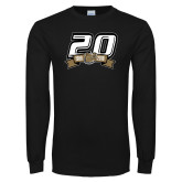 Black Long Sleeve T Shirt-20th Football Logo