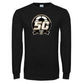 Black Long Sleeve T Shirt-50th Soccer Logo