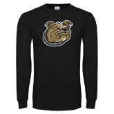 Black Long Sleeve TShirt-Bulldog Head