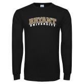 Black Long Sleeve TShirt-Arched Bryant University