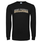 Black Long Sleeve TShirt-Arched Bryant University Bulldogs