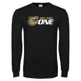 Black Long Sleeve TShirt-We Are One Distressed
