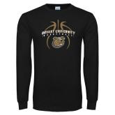 Black Long Sleeve TShirt-Basketball in Ball