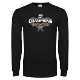 Black Long Sleeve TShirt-Mens Tennis Champions