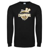 Black Long Sleeve TShirt-2014 Mens Lacrosse Champions
