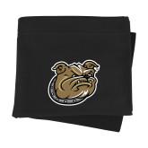 Black Sweatshirt Blanket-Bulldog Head