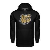 Under Armour Black Performance Sweats Team Hoodie-Bulldog Head