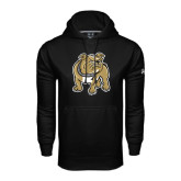 Under Armour Black Performance Sweats Team Hoodie-Bulldog