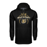 Under Armour Black Performance Sweats Team Hoodie-Basketball in Ball