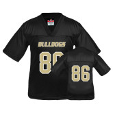 Youth Replica Black Football Jersey-#86