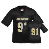 Youth Replica Black Football Jersey-#91