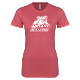 Next Level Ladies SoftStyle Junior Fitted Pink Tee-Bryant Official Logo
