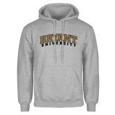 Grey Fleece Hoodie-Arched Bryant University