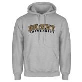 Grey Fleece Hoodie-Arched Bryant University