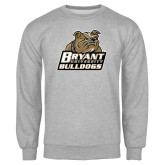 Grey Fleece Crew-Bryant Official Logo