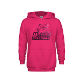 Youth Raspberry Fleece Hoodie-Bryant Official Logo Foil