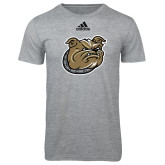 Adidas Sport Grey Logo T Shirt-Bulldog Head