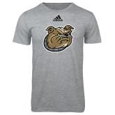 Adidas Sport Grey Logo T Shirt-Bulldog Head