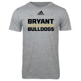 Adidas Sport Grey Logo T Shirt-Bryant Bulldogs Adidas Logo