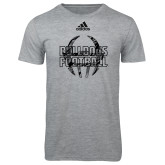 Adidas Sport Grey Logo T Shirt-Bulldogs Football Adidas Logo