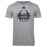 Adidas Sport Grey Logo T Shirt-Bulldogs Football Adidas Logo