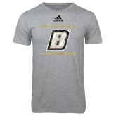 Adidas Sport Grey Logo T Shirt-Byant B Adidas Logo