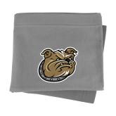 Grey Sweatshirt Blanket-Bulldog Head