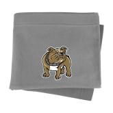 Grey Sweatshirt Blanket-Bulldog