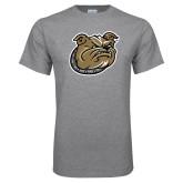 Grey T Shirt-Bulldog Head