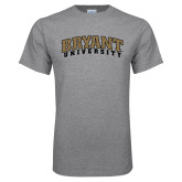 Grey T Shirt-Arched Bryant University