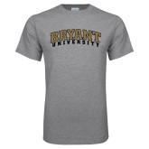 Grey T Shirt-Arched Bryant University