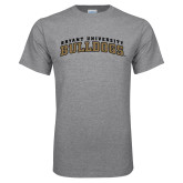 Grey T Shirt-Arched Bryant University Bulldogs